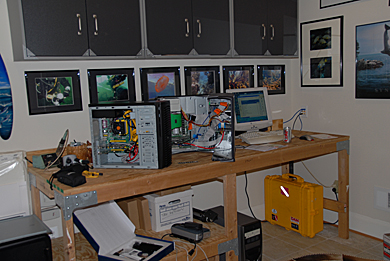 Doug's work room - building boxes!